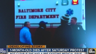 1-month-old baby dies after protest on Greenmount Avenue - Video