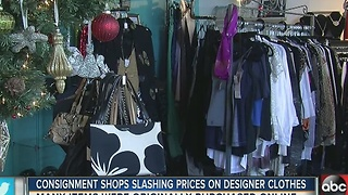 Consignment shops slashing prices on designer items with tags - Video