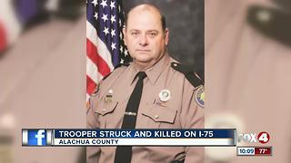 A Florida Highway Patrol Trooper Dies on Duty - Video