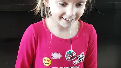 Brave Little Girl Pulls A Loose Tooth With Remote-Controlled Truck