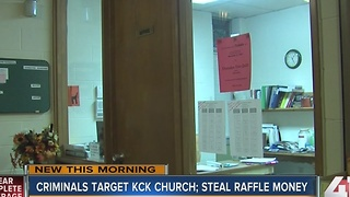 Thieves steal cash from a KCK church - Video