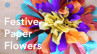 How to make your own festive paper flowers - Video