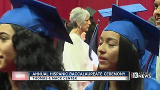 Hispanic graduates recognized at baccalaureate - Video