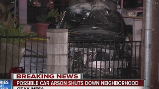 Possible car arson with note and bullets left - Video