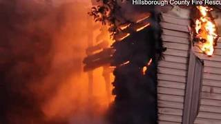 Digital Short: French fries left frying on stove cause two-alarm fire at Tampa apartment complex - Video