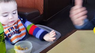 Baby Won't Share With Dad - Video