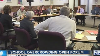 Green Bay school overcrowding forum held - Video