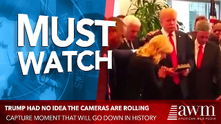 Trump Had No Idea The Cameras Are Rolling, Capture Moment That Will Go Down In History - Video