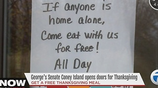 Local coney island offers free meal for Thanksgiving - Video