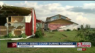 Tornado damage near Farragut