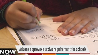 Arizona amends education standards, adds cursive requirement - Video