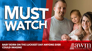 Baby Born On The Luckiest Day Anyone Ever Could Imagine - Video
