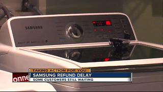 Samsung customers continue to wait for refund after defective washer scared them - Video