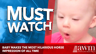 Baby Makes The Most Hilarious Horse Impression Of All Time - Video