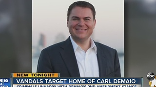 Vandals target home of Carl Demaio - Video