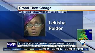 Supermarket employee confesses to stealing lottery tickets - Video
