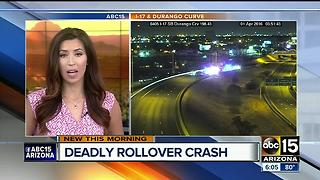 DPS investigating after person killed in rollover on I-17 near Durango Curve - Video