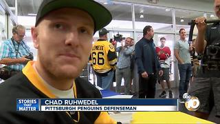 Chad Ruhwedel brings Stanley Cup to San Diego - Video