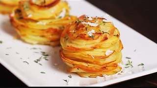 Delicious parmesan potato stacks recipe - Video