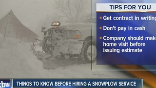 BBB tips for choosing a snow plow company - Video