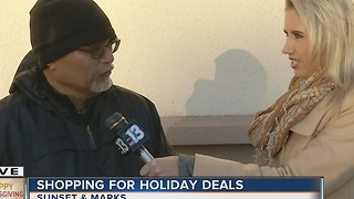 Man talks about shopping on Thanksgiving
