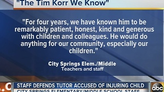 Colleagues defend Timothy Korr, the tutor accused of injuring 7-year-old - Video