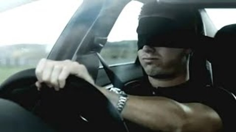 Blindfolded Racing Driver