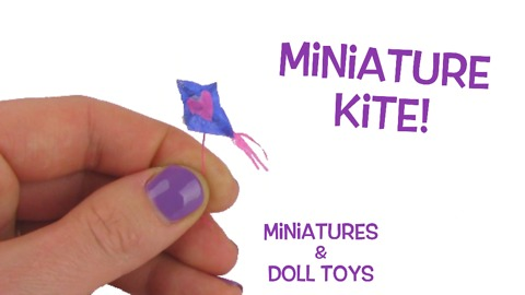 DIY tiny miniature kite for your Barbie dolls