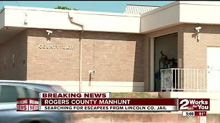 Searching for inmates from Lincoln Co. jail - Video