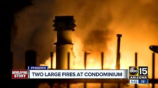 Phoenix condo catches fire, investigation ongoing - Video