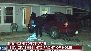 SUV hits home - Video
