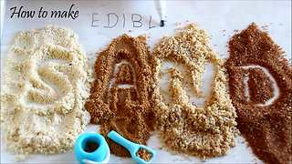 How to make edible sand for cake decorating - Video
