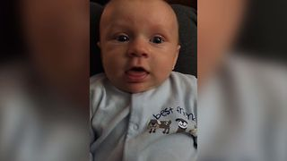 Gassy Baby Makes Silly Faces - Video