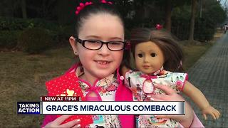 Young girl exploding with life after overcoming possibly fatal disease - Video