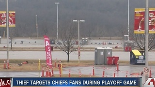 Thief targets chiefs fans during playoff game - Video