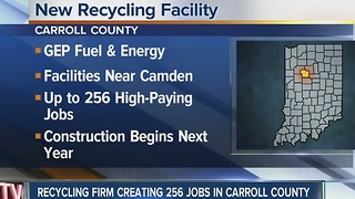 Recycling facility to bring over 250 jobs to Carroll County - Video