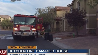 3 displaced after kitchen fire in northwest Las Vegas - Video