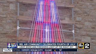 July 4th light display in Belair