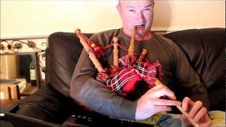 Dad Fails Miserably at Playing Bagpipes - Video