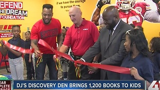 DJ's Discovery Den brings 1,200 books to kids - Video