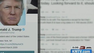 UNO Professor breaks down Trump's tweets - Video