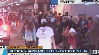 Travelers hitting the skies and road for Christmas - Video