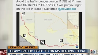 Troopers warn drivers of heavy traffic near Primm - Video