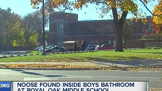 Noose found at Royal Oak Middle School - Video