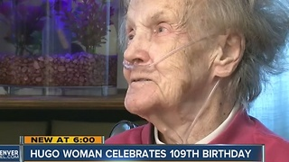 Hugo woman, Hazel Eikermann, celebrates 109th Birthday - Video