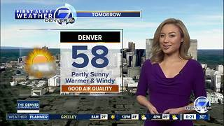 Denver weather warming up - for now... - Video
