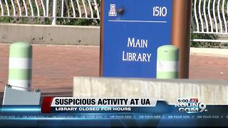 UA library, learning center back open following suspicious activity - Video