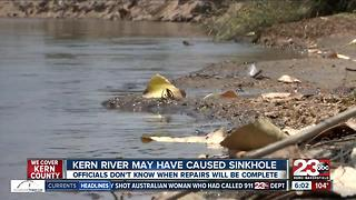 Kern River may be to blame for sinkhole in NW Bakersfield - Video
