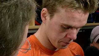 Connor McDavid talks about the Oilers upcoming matchup with the Sabres - Video