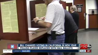 California law replaces neighborhood polling places with mail ballots - Video